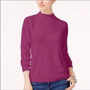 NWT Karen Scott Pink Mock Neck Sweater Size XL